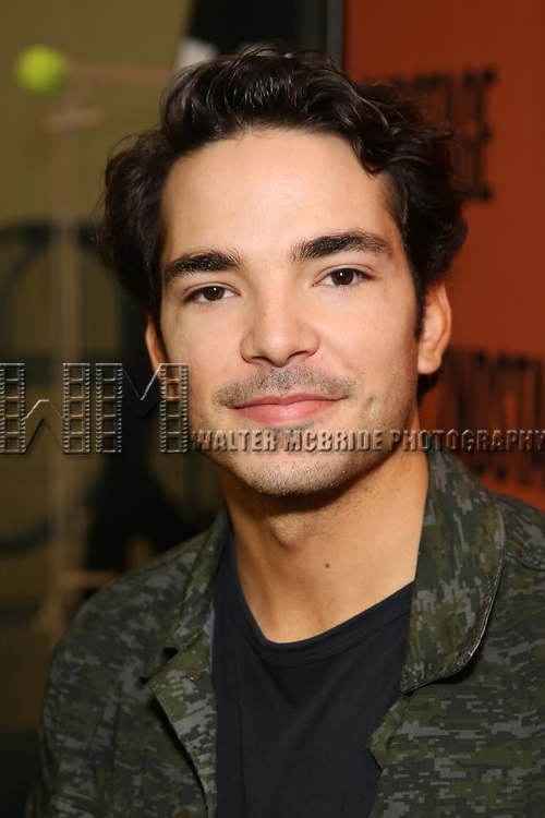 Juan Castano attends the cast photo call for the Second Stage production of  'A Parallelogram' at the Second Stage rehearsal studios on June 29, 2017 in New York City.