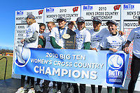 Michigan State University Cross Country team at the 2010 BigTen Cross Country Championships. October 31, 2010
