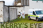 Gardai at the scene where a man was found dead in Tralee on Sunday evening, The man, was found at Boherbee, near a row of houses opposite Austin Stack Park.