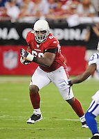 Sept. 27, 2009; Glendale, AZ, USA; Arizona Cardinals tackle (69) Mike Gandy against the Indianapolis Colts at University of Phoenix Stadium. Indianapolis defeated Arizona 31-10. Mandatory Credit: Mark J. Rebilas-