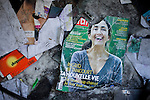 Gammarth, Tunisia. January 29th 2011.The cover of a July 2008 Paris Match Magazine (when Ingrid Betancourt got release after years of detention in Columbia) on the ground of the destroyed and burned house of the first and ex wife of Belhassen Trabelsi who is Leila Trabelsi's older brother......