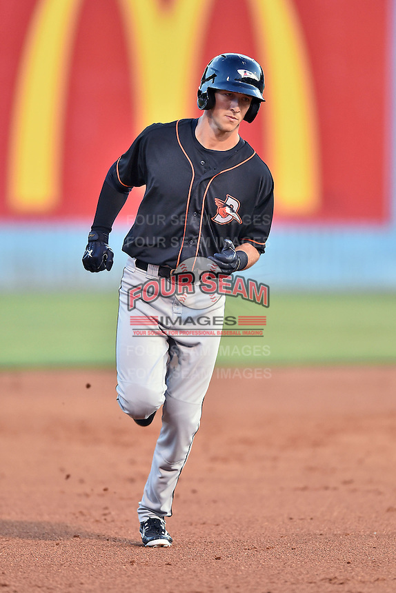 Delmarva Shorebirds second baseman Stephen Wilkerson (17) rounds the bases during the South Atlantic League All Star Game on June 23, 2015 in Asheville, North Carolina. The North Division defeated the South 7-5(Tony Farlow/Four Seam Images)