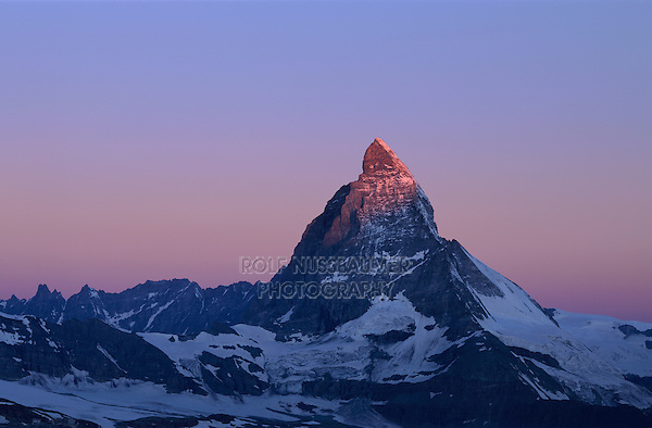 Matterhorn at sunrise, Zermatt, Swiss Alps, Switzerland, Europe