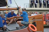 ZEILSPORT: GROU: 04-08-2018, SKS Skûtsjesilen, openingswedstrijd Grou, ©foto Martin de Jong