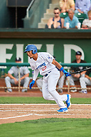 Jefrey Souffront (29) of the Ogden Raptors bats against the Grand Junction Rockies at Lindquist Field on July 25, 2018 in Ogden, Utah. The Rockies defeated the Raptors 4-0. (Stephen Smith/Four Seam Images)