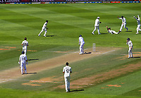 India's Jasprit Bumrah is caught by NZ's Daryl Mitchell during day four of the International Test Cricket match between the New Zealand Black Caps and India at the Basin Reserve in Wellington, New Zealand on Monday, 24 February 2020. Photo: Dave Lintott / lintottphoto.co.nz