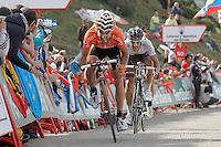 Ruben Perez and Lloyd Mondory during the stage of La Vuelta 2012 between La Robla and Lagos de Covadonga.September 2,2012. (ALTERPHOTOS/Acero) /NortePhoto.com<br /> <br /> **CREDITO*OBLIGATORIO** <br /> *No*Venta*A*Terceros*<br /> *No*Sale*So*third*<br /> *** No*Se*Permite*Hacer*Archivo**<br /> *No*Sale*So*third*