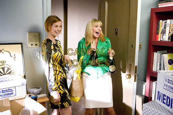 Sex and the City (2008) <br /> Cynthia Nixon &amp; Kim Cattrall<br /> *Filmstill - Editorial Use Only*<br /> CAP/MFS<br /> Image supplied by Capital Pictures