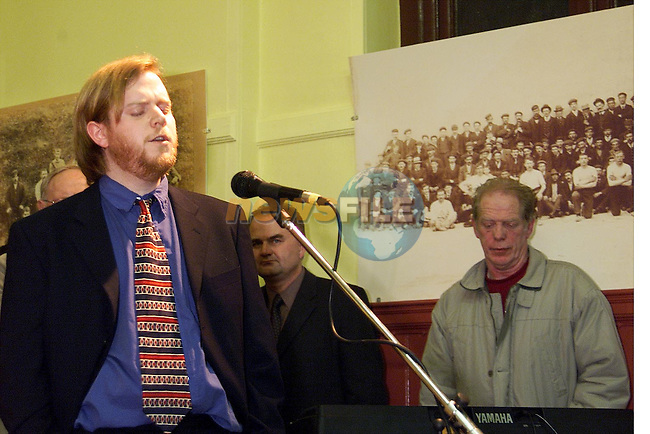 Dermot McCullen singing 'Old Dulaigh Gate' at the launch of 'The Annals of St. Mary's'.Picture: Paul Mohan/Newsfile