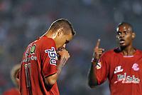 ANTENÇÃO EDITORES FOTO EMBARGADA PARA VEÍCULO INTERNACIONAL - SÃO JOSÉ DO RIO PRETO, SP , 11 DE JANEIRO DE 2013 - ESPORTES - FUTEBOL - 44ª COPA SÃO PAULO DE FUTEBOL JÚNIOR - AMÉRICA - SP X FLAMENGO RJ - Luan (D) comemora após marcar seu gol   durante partida entre a equipe do Flamengo RJ  válida pela copa São Paulo, no estádio (Teixeirão),  na cidade de São José do Rio Preto, no interior do estado de SÃO PAULO. FOTOS: DORIVAL ROSA/  BRAZIL PHOTO PRESS