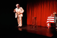South African actor Percy Sieff portraying Mark Twain at his one-man show in Sydney, Australia in 1995.