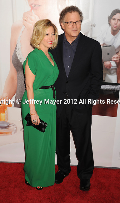 HOLLYWOOD, CA - DECEMBER 12: Kimberly Shlain and Albert Brooks  arrive at the 'This Is 40' - Los Angeles Premiere at Grauman's Chinese Theatre on December 12, 2012 in Hollywood, California.