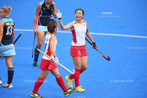 Aki Mitsuhashi (JPN), <br /> SEPTEMBER 26, 2014 - Hockey : <br /> Women's Preliminary <br /> between Kazakhstan Women's 0-8 Japan Women's <br /> at Seonhak Hockey Stadium <br /> during the 2014 Incheon Asian Games in Incheon, South Korea. <br /> (Photo by YUTAKA/AFLO SPORT)