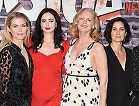 "HOLLYWOOD, CA - MAY 28: (L-R) Rachael Taylor, Krysten Ritter, Melissa Rosenberg and Carrie-Anne Moss attend a Special Screening Of Netflix's ""Jessica Jones"" Season 3 at ArcLight Hollywood on May 28, 2019 in Hollywood, California.<br /> CAP/ROT/TM<br /> ©TM/ROT/Capital Pictures"