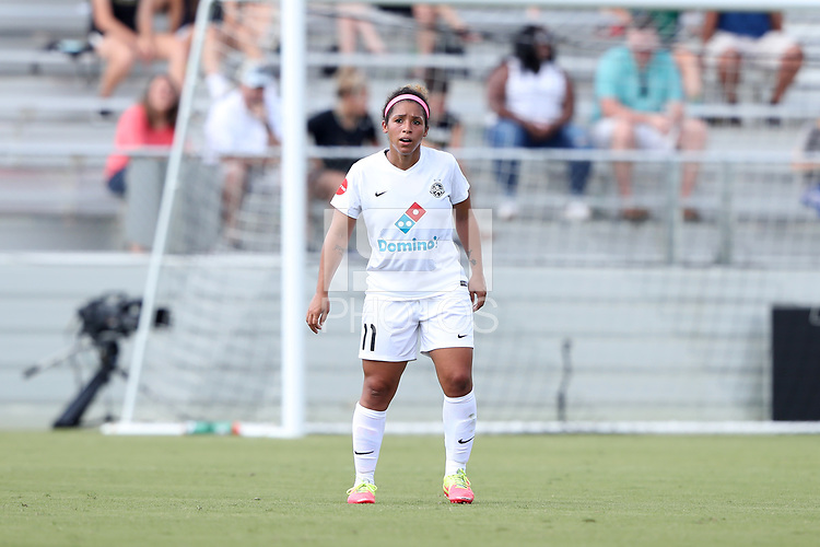 Cary, North Carolina  - Saturday June 03, 2017: Desiree Scott during a regular season National Women's Soccer League (NWSL) match between the North Carolina Courage and the FC Kansas City at Sahlen's Stadium at WakeMed Soccer Park. The Courage won the game 2-0.