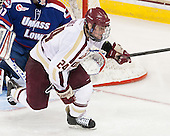 Bill Arnold (BC - 24) - The University of Massachusetts Lowell River Hawks defeated the Boston College Eagles 4-2 (EN) on Tuesday, February 26, 2013, at Kelley Rink in Conte Forum in Chestnut Hill, Massachusetts.