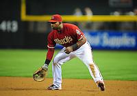 May 4, 2011; Phoenix, AZ, USA; Arizona Diamondbacks first baseman Juan Miranda against the Colorado Rockies at Chase Field. Mandatory Credit: Mark J. Rebilas-