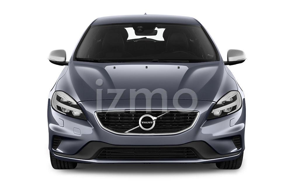 Car photography straight front view of a 2018 Volvo V40 R-Design 5 Door Hatchback