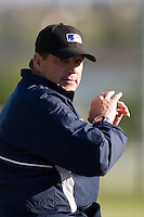 30 April 2008: Former MLB pitcher Bruce Hurst is seen during the first of seven 2008 MLB European Academy Try-out Sessions throughout Europe, at Stade Kandy Nelson Ball Park, in Toulouse, France. Try-out sessions are run by members of the Major League Baseball Scouting Bureau with assistance from MLBI staff.
