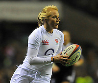 Rugby Union. Twickenham, England. Michaela Staniford of England during the QBE international match between England and New Zealand Black Ferns at Twickenham Stadium on December 01, 2012 in Twickenham, England.