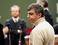 Valter Lavitola in aula durante il processo per la compravendita dei senatori il processo