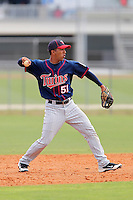 Minnesota Twins second baseman Eddie Rosario #51 during a minor league spring training intrasquad game at the Lee County Sports Complex on March 25, 2012 in Fort Myers, Florida.  (Mike Janes/Four Seam Images)