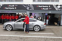 Real Madrid player Xabi Alonso participates and receives new Audi during the presentation of Real Madrid's new cars made by Audi at the Jarama racetrack on November 8, 2012 in Madrid, Spain.(ALTERPHOTOS/Harry S. Stamper) .<br />