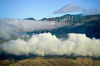 Wind turbines. Maui, Hawaii