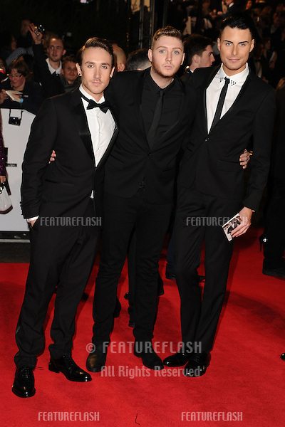 Kye Sones, James Arthur and Rylan Clark arriving for the Royal World Premiere of 'Skyfall' at Royal Albert Hall, London. 23/10/2012 Picture by: Steve Vas / Featureflash