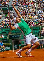 Paris, France, 31 May, 2017, Tennis, French Open, Roland Garros, Dominic Thiem (SUI)<br /> Photo: Henk Koster/tennisimages.com