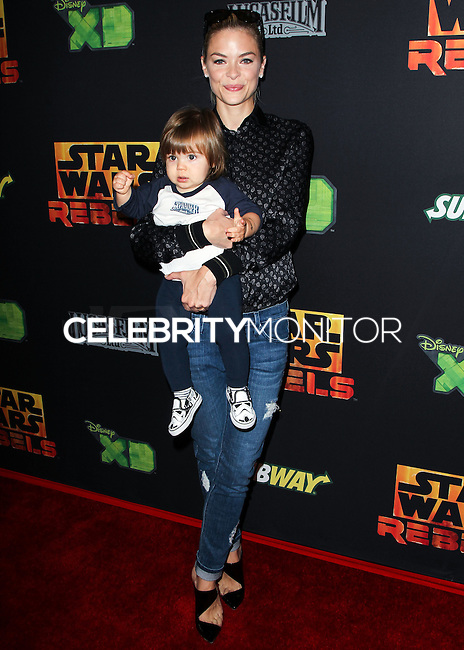 """CENTURY CITY, CA, USA - SEPTEMBER 27: Jaime King, James Knight Newman arrive at the Los Angeles Screening Of Disney XD's """"Star Wars Rebels: Spark Of Rebellion"""" held at the AMC Century City 15 Theatre on September 27, 2014 in Century City, California, United States. (Photo by Celebrity Monitor)"""