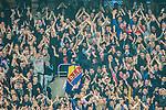 Stockholm 2015-05-25 Fotboll Allsvenskan Djurg&aring;rdens IF - AIK :  <br /> Djurg&aring;rdens supportrar under matchen mellan Djurg&aring;rdens IF och AIK <br /> (Foto: Kenta J&ouml;nsson) Nyckelord:  Fotboll Allsvenskan Djurg&aring;rden DIF Tele2 Arena AIK Gnaget supporter fans publik supporters
