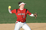 MADISON, WI - APRIL 17: Infielder Lynn Anderson #5 of the Wisconsin Badgers softball team throws the ball against the University of Illinois-Chicago at Goodman Diamond on April 17, 2007 in Madison, Wisconsin. (Photo by David Stluka)