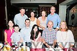 The Power family originally from Shanakill enjoying a family reunion on Saturday night  at Cassidys with the family members that moved away to  Tipperary, Tyrone and Australia. Front l-r  Michelle Martin, Sean Martin, Peter Martin, Caitlyn Martin, Eamon Kiely and Phil Kiely. Back l-r  Sean Penda, Triona Power, Catherine Power and Ger Power.