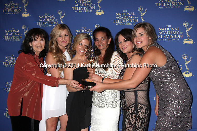 LOS ANGELES - JUN 20:  General Hospital Makeup Winners at the 2014 Creative Daytime Emmy Awards at the The Westin Bonaventure on June 20, 2014 in Los Angeles, CA