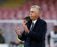 Carlo Ancelotti coach of Napoli   during the  italian serie a soccer match,  SSC Napoli - Frosinone       at  the San  Paolo   stadium in Naples  Italy , December 08, 2018