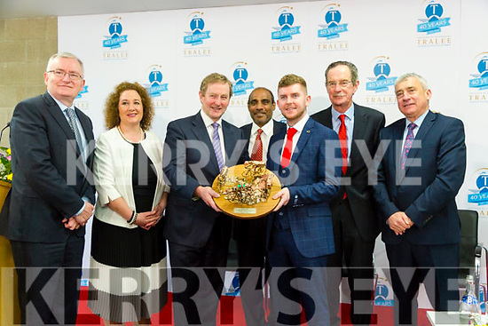 Taoiseach Enda Kenny TD attend the launch of the €16.5m sports academy at ITT North Campus on Monday. Pictured l-r Oliver Murphy, Brid McElligott, Taoiseach Enda Kenny, Lionel Alexander, Steven Clifford, IT Student Union President,  Dick Spring, Ogie Moran