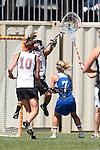 Los Angeles, CA 04/18/10 - Renee Eligio (SCU #21) and Megan Dawe (UCSB # 7)
