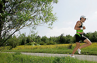 09 JUN 2007 - TREDEGAR, UK - Tim Don on his way to winning the National Elite Mens Triathlon Championships which were held as part of the second round of the Corus Elite Triathlon Series. (PHOTO (C) NIGEL FARROW)