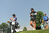 Christina Kim (USA) departs the 16th tee during Thursday's first round of the 72nd U.S. Women's Open Championship, at Trump National Golf Club, Bedminster, New Jersey. 7/13/2017.<br /> Picture: Golffile | Ken Murray<br /> <br /> <br /> All photo usage must carry mandatory copyright credit (&copy; Golffile | Ken Murray)
