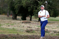 Lee Westwood (ENG) on the 2nd during Round 2 of the Sky Sports British Masters at Walton Heath Golf Club in Tadworth, Surrey, England on Friday 12th Oct 2018.<br /> Picture:  Thos Caffrey | Golffile<br /> <br /> All photo usage must carry mandatory copyright credit (&copy; Golffile | Thos Caffrey)