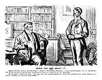 """When You Are About It. Magister Familias (parting with his butler). """"Here is the letter, Flanagan. I can conscientiously say you are honest and attentive, but I should have to stretch a point if I were to say you are sober."""" Mr Flanagan. """"Thank you, Sor, But when you are afther sthritchin' a point, Sor, wouldn't you, plase, sthrich it a little further, and say I'm aften sober!!"""""""
