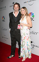 US actress Mira Sorvino arrives with husband Chris Backus at the NBC/Universal Pictures/Focus Features Golden Globes after party at the Beverly Hilton Hotel, Beverly Hills, California, USA, on January 11, 2009.  The Golden Globes honour excellence in film and television. \
