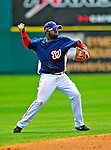 8 March 2009: Washington Nationals' shortstop Cristian Guzman in action during a Spring Training game against the New York Mets at Space Coast Stadium in Viera, Florida. The Nationals defeated the Mets 8-3 in the Grapefruit League matchup. Mandatory Photo Credit: Ed Wolfstein Photo