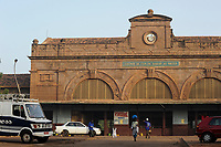 MALI, Bamako , old railway station from french colonial time, railway line Dakar–Niger connecting Dakar in Senegal with Koulikoro in Mali
