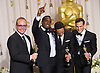 """SEAN COMBS """"P Diddy"""" .and the winners of the Best Documentary Feature with """"Undefeated, Combs was the executive producer..texts on his mobile at the 84th Academy Awards, Kodak Theatre, Hollywood, Los Angeles_26/02/2012.Mandatory Photo Credit: ©Dias/Newspix International..**ALL FEES PAYABLE TO: """"NEWSPIX INTERNATIONAL""""**..PHOTO CREDIT MANDATORY!!: NEWSPIX INTERNATIONAL(Failure to credit will incur a surcharge of 100% of reproduction fees)..IMMEDIATE CONFIRMATION OF USAGE REQUIRED:.Newspix International, 31 Chinnery Hill, Bishop's Stortford, ENGLAND CM23 3PS.Tel:+441279 324672  ; Fax: +441279656877.Mobile:  0777568 1153.e-mail: info@newspixinternational.co.uk"""