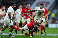 Maro Itoje of England takes on the Wales defence. RBS Six Nations match between England and Wales on March 12, 2016 at Twickenham Stadium in London, England. Photo by: Patrick Khachfe / Onside Images