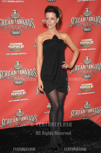 KATE BECKINSALE - winner of Scream Queen award - at the Spike TV Scream Awards 2006 at the Pantages Theatre, Hollywood..October 7, 2006  Los Angeles, CA.Picture: Paul Smith / Featureflash