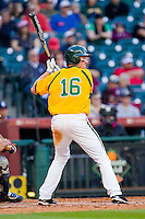 Brooks Pinckard #16 of the Baylor Bears at bat against the Rice Owls at Minute Maid Park on March 6, 2011 in Houston, Texas.  Photo by Brian Westerholt / Four Seam Images
