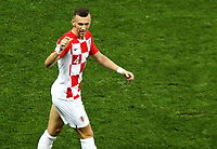 MOSCU - RUSIA, 15-07-2018: Ivan PERISIC (#4) jugador de Croacia celebra después de anotar el primer gol de su equipo a Francia durante partido por la final de la Copa Mundial de la FIFA Rusia 2018 jugado en el estadio Luzhnikí en Moscú, Rusia. / Ivan PERISIC (#4) player of Croatia celebrates after scoring the first goal of his team to France during match of the final for the FIFA World Cup Russia 2018 played at Luzhniki Stadium in Moscow, Russia. Photo: VizzorImage / Cristian Alvarez / Cont
